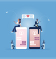 mobile online dating service application concept vector image