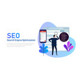 modern flat design concept of seo search engine vector image vector image