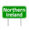 Northern Ireland road sign vector image vector image