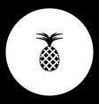 one isolated pineapple simple black icon eps10 vector image vector image