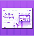 order online shopping concept with character flat vector image