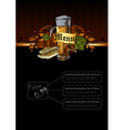 ornate frame with beer elements vector image vector image
