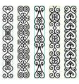 ornate pattern borders vector image vector image
