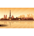 Paris city skyline silhouette background vector image vector image
