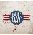 Patriot Day Text on decorative Tag vector image vector image