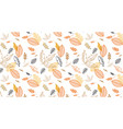 pattern banner with hand drawn elegant autumn vector image
