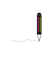 pencil with line color vector image vector image