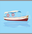 pleasure boat rest travel vector image vector image