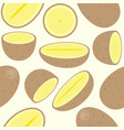 potato seamless pattern for wallpaper or wrapping vector image vector image