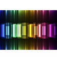 rainbow speed bar overlap in dark background vector image vector image