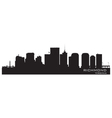 Richmond Virginia skyline Detailed city silhouette