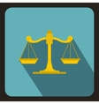 Scales of justice icon flat style vector image vector image