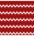 Seamless red and white knitted pattern vector image vector image
