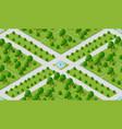 seamless urban plan pattern vector image vector image