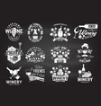 set of winer company badge sign or label vector image