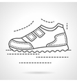 Sports sneaker flat line icon vector image vector image