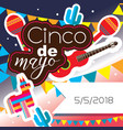 square card for celebration of mexican holiday vector image