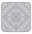 square ornamental map mandala like decoration vector image vector image