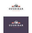 sushi restaurant emblem logo template vector image vector image