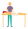 therapy masseur icon cartoon style vector image vector image