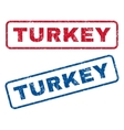 Turkey Rubber Stamps vector image