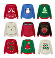 ugly sweaters funny christmas clothes jumper vector image vector image