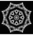 White star pattern hand-drawn design on black vector image