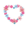 wild flowers in shape of heart of pastel colors vector image vector image