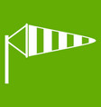 windsock icon green vector image vector image