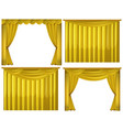 yellow curtains in four styles vector image
