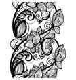 seamless pattern black lace background old vintage vector image