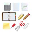 office supplies set vector image