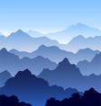 seamless mountain landscape vector image