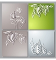 Abstract 3D Paper Flowers vector image vector image