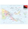 administrative map provinces papua new guinea vector image