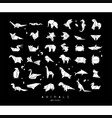 animals origami white set vector image vector image