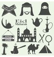 Arabic icons set vector image vector image