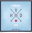Arrows with capital letters Valentines Day vector image vector image