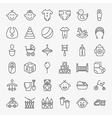 Baby Line Art Design Icons Big Set vector image