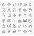 Baby Line Art Design Icons Big Set vector image vector image