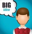 Big idea design vector image vector image