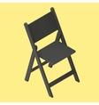 black foldable isometric stool vector image