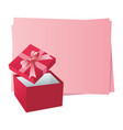 blank frame with gift boxes vector image vector image