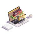 buy villa online composition vector image