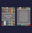 cars on road top view card vector image vector image