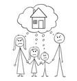 cartoon unhappy family couple man and woman vector image vector image