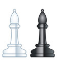 chess bishops vector image vector image