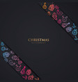 christmas background with fulcolor element vector image