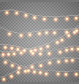 christmas gold garlands isolation on transparent vector image