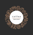 coffee plant circle symbol vintage card vector image